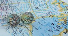 Personalised Map Cufflinks