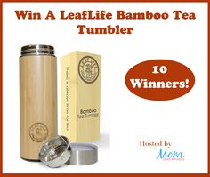 Bamboo Tea TumblerLeafLife Giveaway Ends 2/2/17 Sponsored by: LeafLifeHosted by: Mom Does Review I am going to be really honest here. There are a whole lot of companies that make tumblers who promote that their product will keep beverages hot for X...