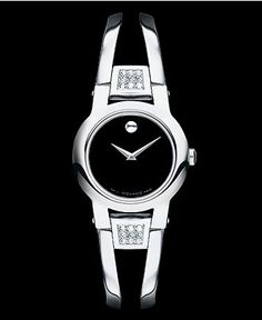 Movado Watch, Women's Swiss Amorosa Stainless Steel Bangle Bracelet 24mm 0604982 - Women's Watches - Jewelry & Watches - Macy's