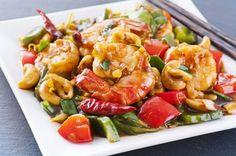 Wok de camarones y verduras - Cocina - REVISTA PRONTO - www.pronto.com.ar