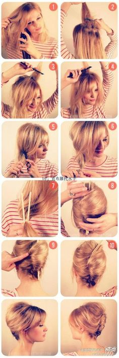 how to – french twist – So easy with the chop sticks! – Bryn Patterson how to – french twist – So easy with the chop sticks! how to – french twist – So easy with the chop sticks! Quick Hairstyles, Pretty Hairstyles, Wedding Hairstyles, Style Hairstyle, Medium Hairstyles, Hairstyles 2016, Updo Hairstyle, Braid Hairstyles, French Hairstyles