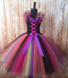 Witch Tutu Dress Pink, Purple, Green, Orange