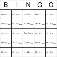 Multiplication Bingo Card {can have has basic 1x1 multiplication ...