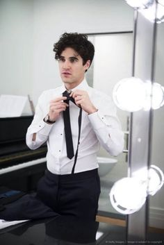 Darren Criss at The New York Pops: Darren Criss and Betsy Wolfe In Concert - Backstage