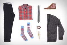 Like the socks, shirt and sweater  Urban Outfitters