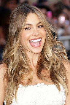 Embryo Advocates Confront Sofia Vergara At Magic Mike XXL Premiere Hazel Eyes Hair Color, Blonde Hair For Hazel Eyes, Sandy Blonde, Sandy Brown Hair, Beautiful Smile, Hair Dos, New Hair, Hair Makeup, Hair Beauty