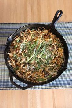 Alton Brown's from-scratch green bean casserole. The BEST you'll ever have!