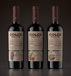 DOLCE NOTTE - Fruit Wine Series on Packaging of the World - Creative Package Design Gallery