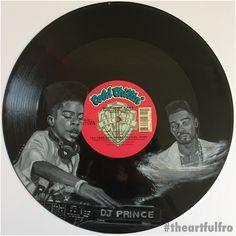 DJ Prince featuring Big Daddy Kane #vinylart #hiphop #bigdaddykane art by #theartfulfro