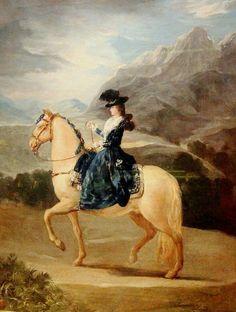 Goya, Portrait of Maria Teresa de Vallabriga on Horseback, Uffizi Gallery, Florence, Italy