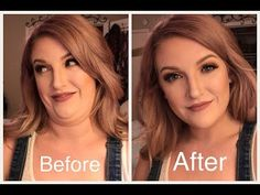 contour makeup – Hair and beauty tips, tricks and tutorials Double Chin Hairstyles, Hairstyles For Fat Faces, Plus Size Hairstyles, Cool Hairstyles, Face Contouring, Contour Makeup, Skin Makeup, Contour For Round Face, Round Face Makeup
