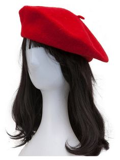 Buy Red Woolen Cloche Hat  from abaday.com, FREE shipping Worldwide - Fashion Clothing, Latest Street Fashion At Abaday.com