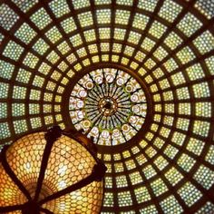 Tiffany stained glass dome at the Chicago Cultural Center. See this and more Midwest moments on our Instagram feed: http://instagram.com/midwestlivingmag Label your Instagram photos #midwestmoment to give us permission to repost!