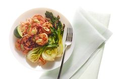 Roasted Hot-Honey Shrimp With Bok Choy
