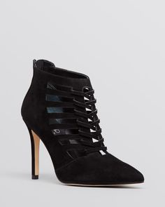 Ivanka Trump Pointed Toe Booties - Sweet High Heel