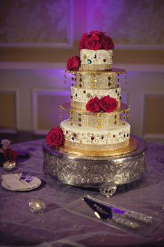 indian wedding cake decor floral http://maharaniweddings.com/gallery/photo/6875