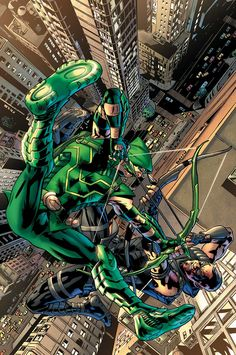 GREEN ARROW #37 - Written by ANDREW KREISBERG and BEN SOKOLOWSKI / Art by DANIEL SAMPERE and JONATHAN GLAPION / Cover by BRYAN HITCH