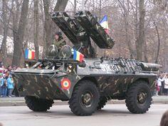 """* 9K31 Strela-1 (pela OTAN: SA-9 """"Gaskin"""") * Modelo CA-95M SAM. Exército romeno. Lança Míssil 'Terra-Ar'."""