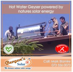 We are an essential service and are open for business. We are taking the necessary precautions and sanitising as per the guidelines. #poweredbysolar #solarpower #bergens #solar #solarsolution #solarrepairs #solarmaintenance #essentialservice #southafrica #solargeyser #power #bergenssolar #gogreen #weharnessnaturessolarenergy #lockdown Call Mark for a Quote Phone: 073 556 0073 Email: mark@bergens.co.za