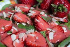 Lite Strawberry Spinach Salad