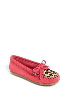 Minnetonka 'Kilty - Leopard' Moccasin available at #Nordstrom