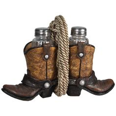Western Cowboy Boots and Rope Salt & Pepper Shakers 541 | Buffalo Trader Online