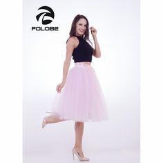 FOLOBE Pink 7 Layers Midi Tulle Skirt American Apparel Tutu Skirts Womens Petticoat Elastic Belt faldas saia jupe. Yesterday's price: US $34.99 (28.79 EUR). Today's price: US $20.99 (17.41 EUR). Discount: 40%.