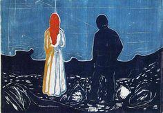 MUNCH Edvard, Deux personnes : les solitaires, 1899