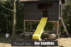 Great Sandbox Ideas - tips and tricks for a backyard play space - Happy Hooligans