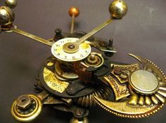 Steampunk slim line phone