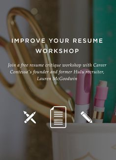 Improve your #resume in a free workshop on May 20th by getting feedback from an experienced recruiter .