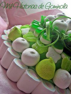 Tarta chuches / gominolas / cumpleaños / comunion / boda / verde