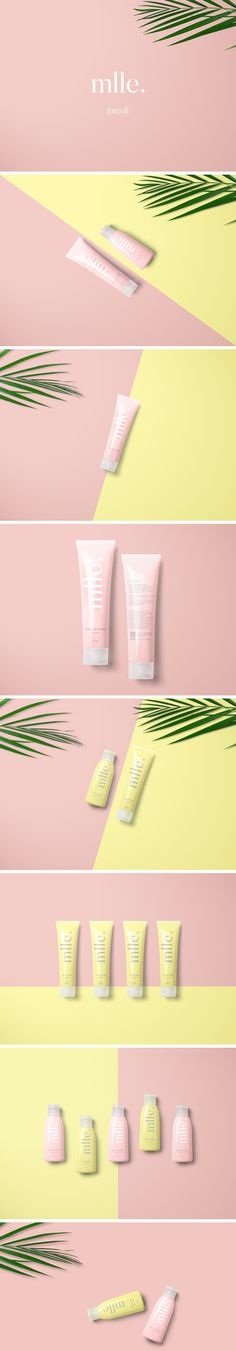 Packaging for mlle. Body and hand lotion (fraise cheesecake & lemon cookie).