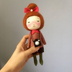 Handmade doll with camera
