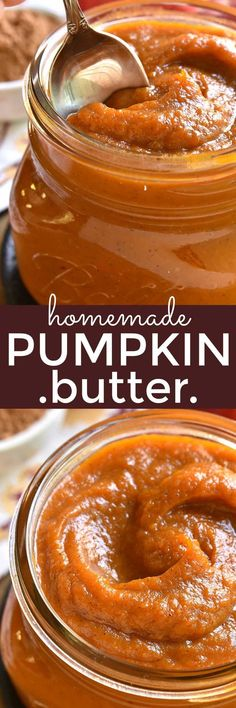 Homemade Pumpkin Butter is the most delicious taste of fall! Made with just 8 ingredients and ready in 15 minutes, this recipe is rich, creamy, flavorful, and perfect for spreading on your favorite breakfast breads or using in your favorite recipes. Thanksgiving Recipes, Fall Recipes, Holiday Recipes, Seitan, Pumpkin Butter, Pumpkin Spice, Salsa Dulce, Butter Recipe, Flavored Butter