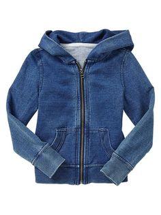 Indigo zip hoodie Product Image