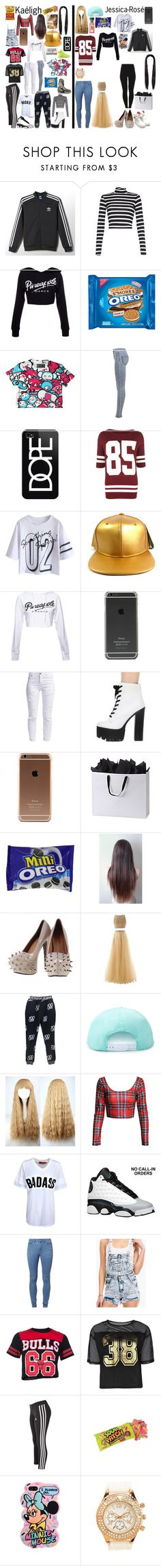 """Jessica and Kaeligh moving in together"" by royalsinthedark ❤ liked on Polyvore featuring adidas, NIKE, Quiz, Miss Selfridge, Casetify, WearAll, Hershey's, Handle, CO and RADisRAD"