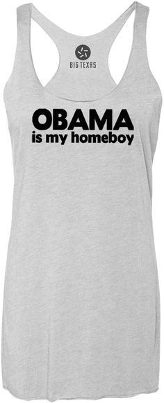 Obama Is My Homeboy (Black) Tri-Blend Racerback Tank-Top