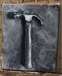 this is an oil painting, which can be considered an example where the element value is produced through the many light greys, almost black and white colors. Photo To Oil Painting, Oil Painting Pictures, Light Painting, Painting Canvas, Oil Paintings, Painting Lessons, Art Lessons, Monochromatic Paintings, High School Art Projects