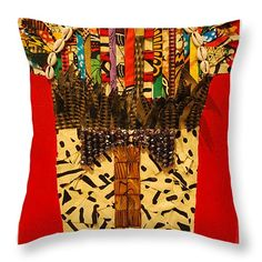 Shaka Zulu Throw Pillow by Apanaki Temitayo M