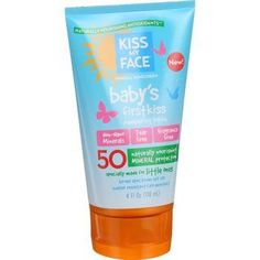 Kiss My Face Sunscreen Mineral Lotion Babys First Kiss SPF 50 4 oz