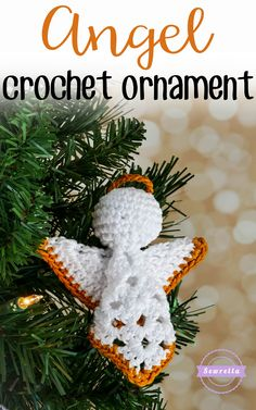 Granny Square Angel Crochet Ornament | 25 Days of Christmas Traditions Crochet-A-Long | Free Pattern from Sewrella