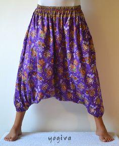 Unique Indian Harem Pants~Yoga Pants~Hippie Pants~Meditation Pants~Aladdin Pants~Ali Baba Pants~Boho~Bohemian Pants~Baggy Pants~Gypsy Pants