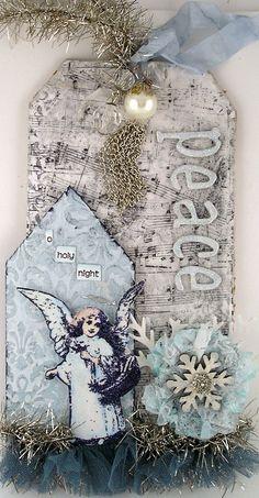Geinspireerd door Tim Holtz 12 tags of Christmas 2011 - tag 12