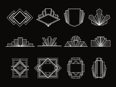 31 Art Deco Design Elements by FineScrap on Motifs Art Nouveau, Design Art Nouveau, Elements Of Art, Design Elements, Invitaciones Art Deco, Graphic Pattern, Moda Art Deco, Doodle Drawing, Drawing Art