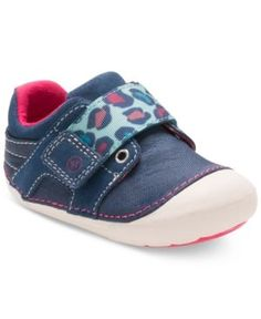 Stride Rite Soft Motion Cameron Shoes, Baby Girls (0-4) & Toddler Girls (4.5-10.5) - Blue 3W
