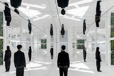 Archstudio Transforms Beijing Residence into a Hall of Mirrors Boutique House Of Mirrors, Hall Of Mirrors, Mirror Room, Mirror Mirror, Gifu, Vertical Green Wall, Chinese Courtyard, Interior Design Magazine, Garden Pictures