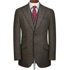 Green Donegal tweed Slim fit suit
