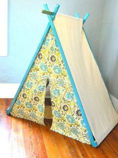 spielerische Zelte für Kinder floral gelb idee