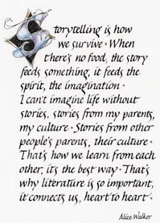 The power of storytelling -- words by Alice Walker. And then there is storytelling without words. What beautiful word and so true. Writing Quotes, Writing Tips, Writing Prompts, Reading Quotes, Storytelling Quotes, History Of Storytelling, Alice Walker, Writers Write, Writing Inspiration